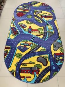 Детский ковер дорога с улицами