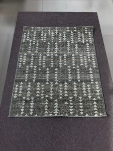 Серый натуральный шерстяной ковер