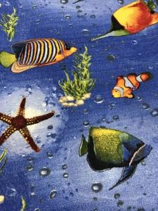 Покрытие для детской комнаты - море и рыбки