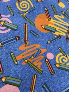 Покрытие для детской комнаты - карандаши для школьника