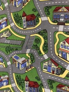 Покрытие для детской комнаты - дороги с улицами в городе