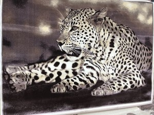 Ковер и изображением гепарда