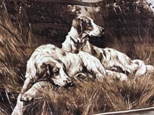 Ковер и изображением собак