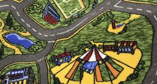 Покрытие для детской комнаты - город с улицами
